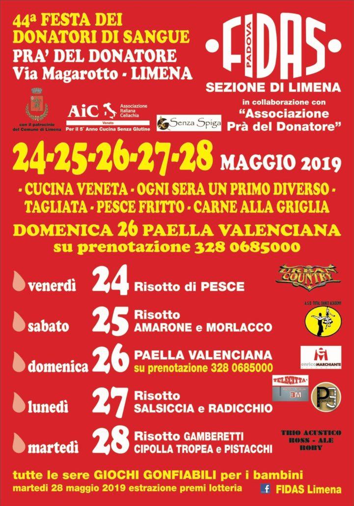 Festa Del Donatore Fidas Limena Aic Veneto